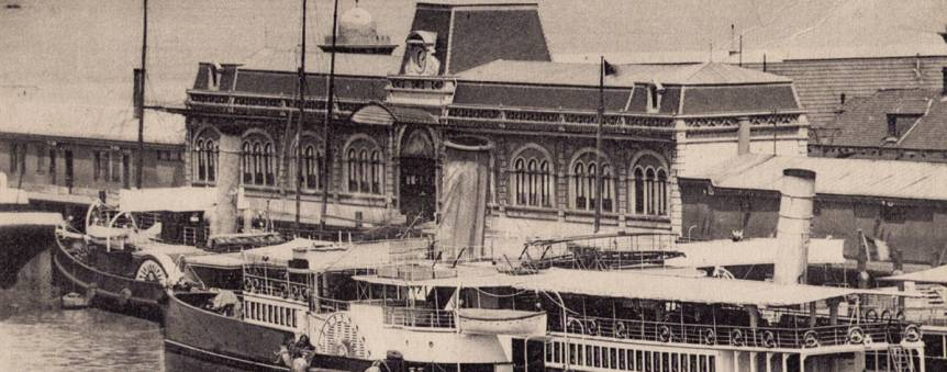 La Gare Maritime Transatlantique de Cherbourg en 1912 © Collection Jean Pivain
