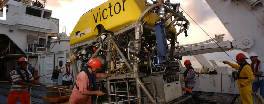 Le robot téléopéré français Victor 6000 © Ifremer