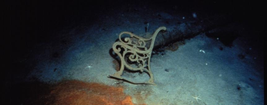 Epave du Titanic : un banc © RMS Titanic