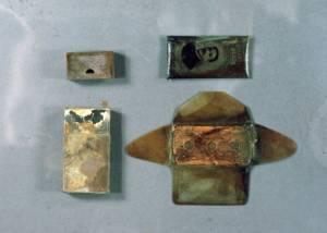 Emballage de lames de rasoir Gillette avant restauration © EDF Copyright - Droits réservés