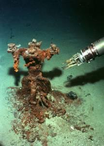 Objet du Titanic et pince du sous-marin russe Mir © PP Shirshov Institute of Oceanology