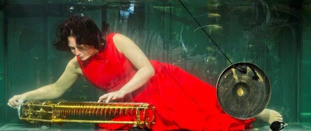 Concert sous l'eau Aquasonic de Between Music, un groupe de musiciens danois © Between Music