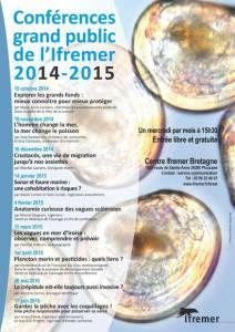 Affiche des conférences grand public Ifremer 2014-2015