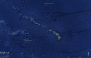 L'atoll de Johnston dans l'océan Pacifique à environ 1 300 km de l'île d'Hawaii.