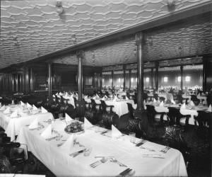 La salle à manger de 2e classe © Collection « Titanic The Ship Magnificent »