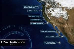 De mai à novembre, le Nautilus explorera les fonds sous-marins de la côte ouest des États-Unis. © Nautilus Live 2017