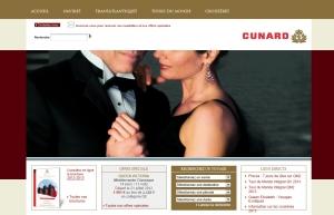 Site français de la compagnie de croisières Cunard