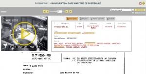 """Gaumont Pathé Archives - """"Inauguration de la Gare Maritime de Cherbourg"""""""