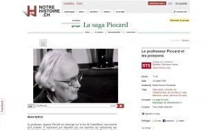 Interview radiophonique - Le professeur Piccard et les poissons - RSR (22 juillet 1946)
