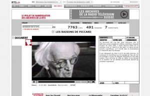 Interview télévisée d'Auguste Piccard - TSR (11 mars 1960)