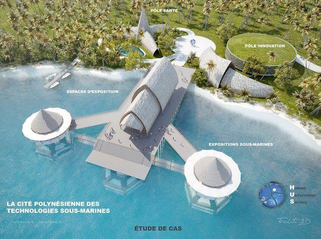 L'association polynésienne Human Underwater Society porte un projet de Cité des technologies sous-marines basée à Tahiti © HUS