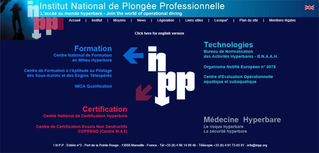 Cliquez sur l'image pour accéder au site Web de l'Institut National de Plongée Professionnelle