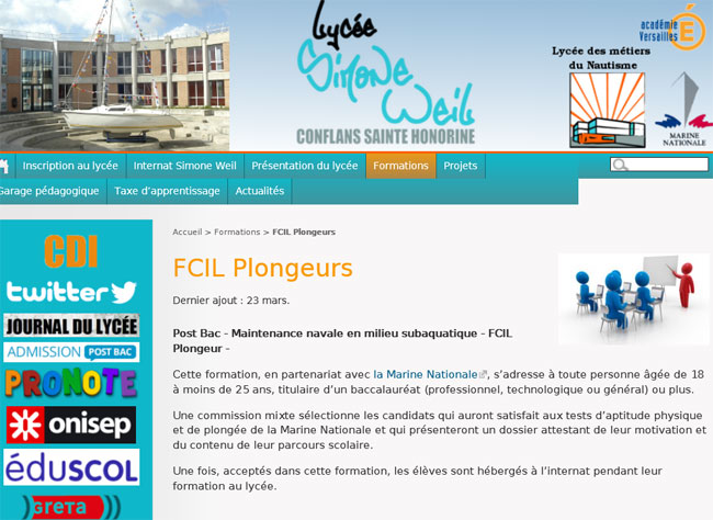 Cliquez sur l'image pour accéder au site Web du lycée Simone Veil de Conflans-Sainte-Honorine