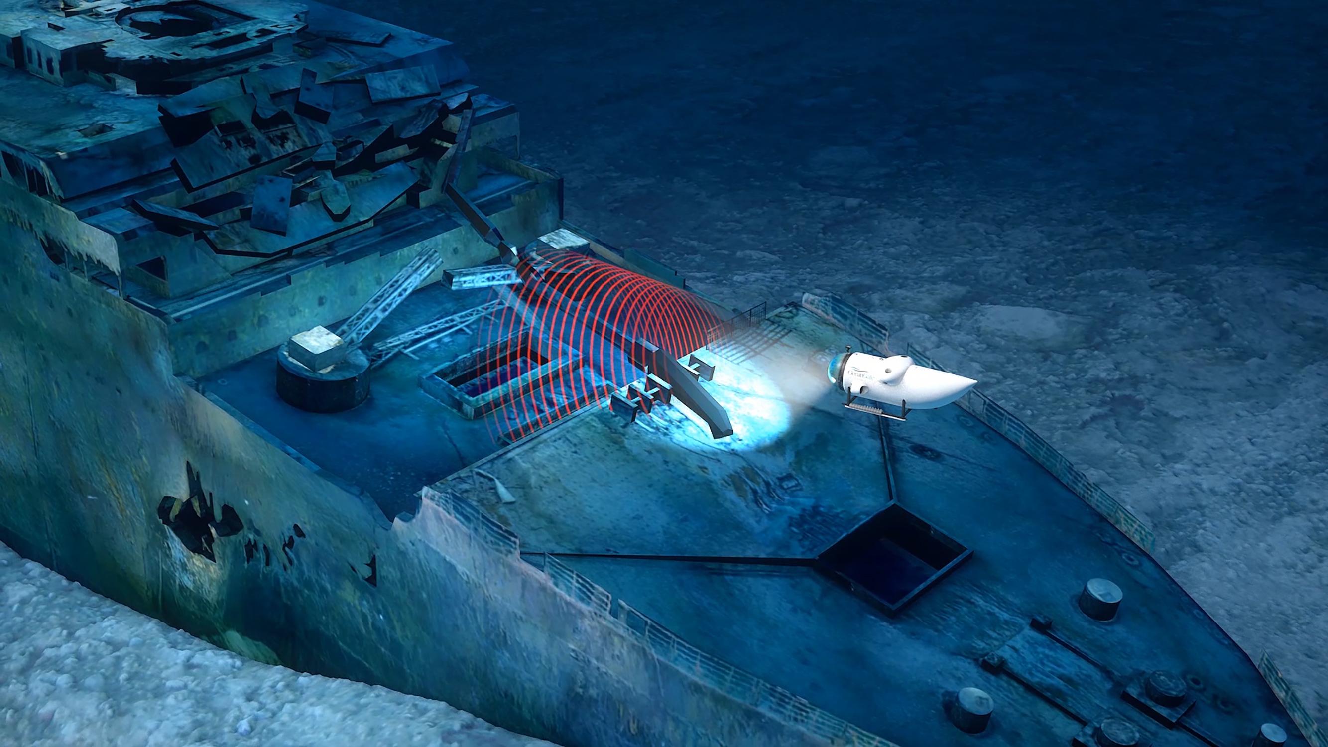 La campagne menée par Ocean Gate permettra de réaliser un modèle numérique 3D de l'épave du Titanic et de son champ de débris © Ocean Gate Inc.