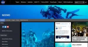 Cliquez sur l'image pour accéder au site du programme NEEMO initié par l'agence spatiale américaine