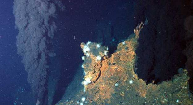 Source hydrothermale sur le site Ashadze, dorsale médio-atlantique © Ifremer/Victor 6000/Serpentine