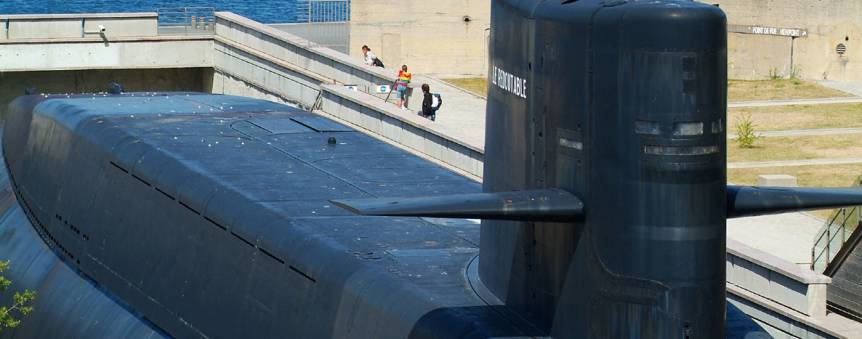 Le sous-marin nucléaire lanceur d\'engins Le Redoutable  © La Cité de la Mer/Sylvain Guichard