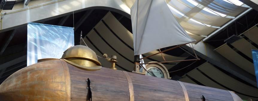 Maquette du sous-marin Nautilus de Robert Fulton © La Cité de la Mer/Lucie Le Chapelain