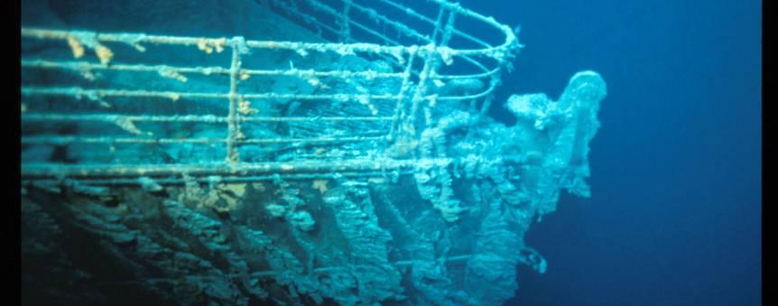 La proue du Titanic à 3800 mètres de profondeur © RMS Titanic