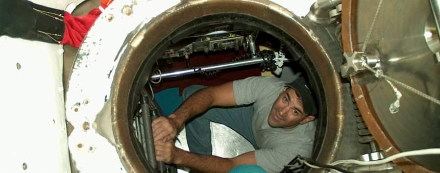Bruce Strickrott, un des pilotes du sous-marin américain Alvin © WHOI