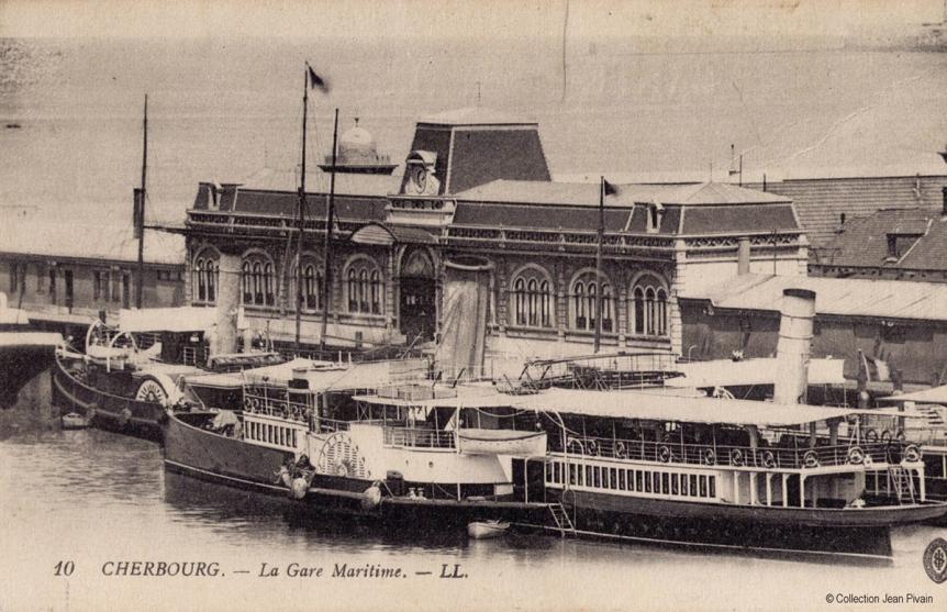 La Gare Maritime Transatlantique de Cherbourg en 1912 © Collection Jean Pivain