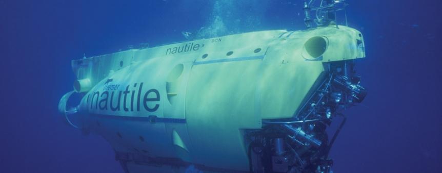 Le sous-marin habité français Nautile © Ifremer