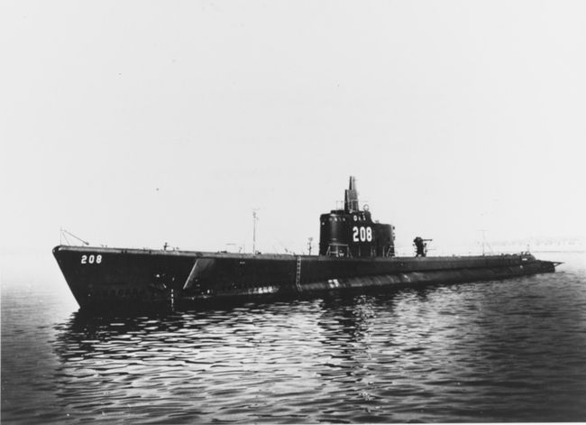 L'USS Grayback (SS-208) photographié en 1941 © Naval History and Heritage Command. Catalog#: NH 53771.