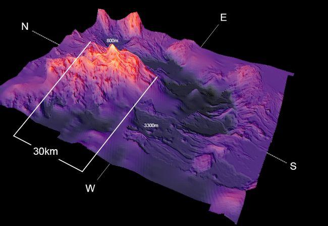 Les données recueillies lors de cette mission ont permis de cartographier le mont sous-marin Explorer © Shelton Dupreez/Pêches et Océans Canada
