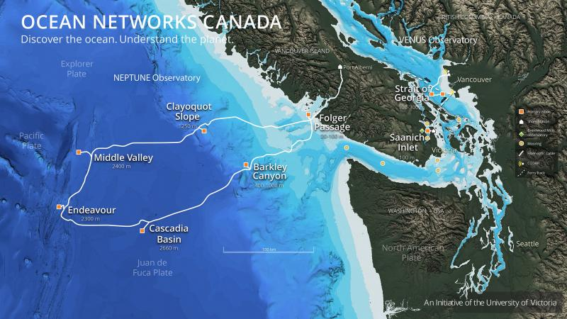 L'observatoire océanique NEPTUNE © Ocean Networks Canada