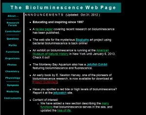 The bioluminescence Web Page