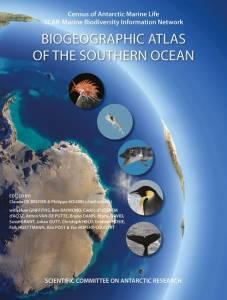 """Couverture du livre """"Biogeographic Atlas of the Southern Ocean"""""""