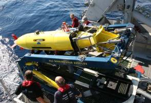 Le robot sous-marin (AUV) REMUS 6000 © Woods Hole Oceanographic Institution