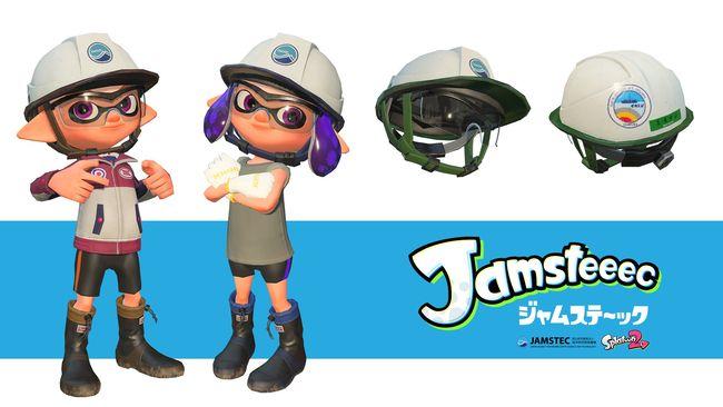 Les joueurs peuvent ainsi personnaliser leur tenue avec un casque d'océanographe inspiré de celui porté par les équipes du JAMSTEC. © Nintendo/JAMSTEC