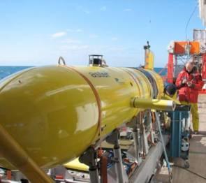 Le robot sous-marin autonome (AUV) AsterX © Ifremer