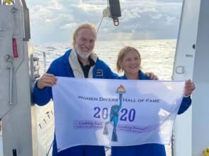 Victor Vescovo et l'astronaute Kathy Sullivan © Caladan Oceanic