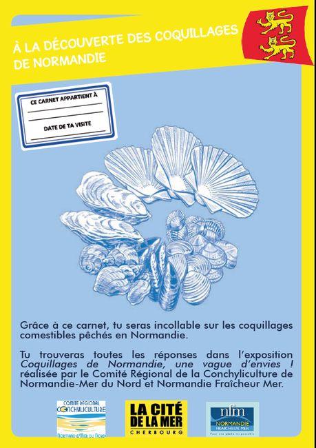Carnet de jeux Coquillages de Normandie © La Cité de la Mer