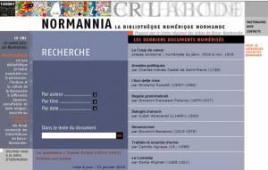 Normannia : la bibliothèque numérique normande