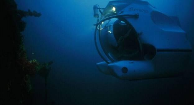 Le sous-marin Remora 600 conçu par la Comex et exposé à La Cité de la Mer © Alain Tocco / COMEX