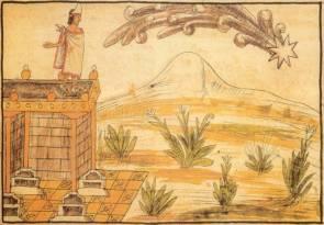 Le passage d'une comète aurait été interprété par Moctezuma II comme un présage funeste, selon Diego Durán (Codex Duran, t.I, chap. LXIII)