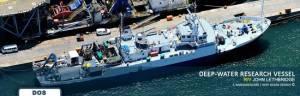 """Le navire de recherche """"RV John Lethbridge"""" © Frédéric Bassemayousse;Deep Ocean Search LTD"""