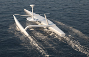 Le drone Sphyrna a parcouru le sanctuaire Pélagos à la conquête des clics de cachalots ©Sea Proven