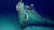 Vue rapprochée de la proue de l'épave découverte dans le Golfe du Mexique©NOAA