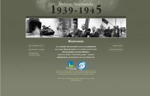 Cliquez sur l'image pour accéder au site Web Archives Normandie 1939-45