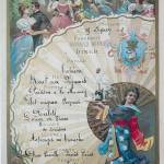 Menu du dîner du 19 février 1898 servi à bord du paquebot Armand Béhic © Musée de l'art culinaire Escoffier