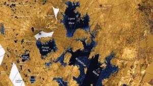 Carte des mers sur Titan © NASA