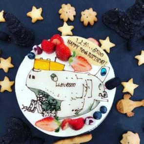 Pour fêter le 30e anniversaire du Shinkai 6500, rien ne vaut un bon gâteau ! © JAMSTEC