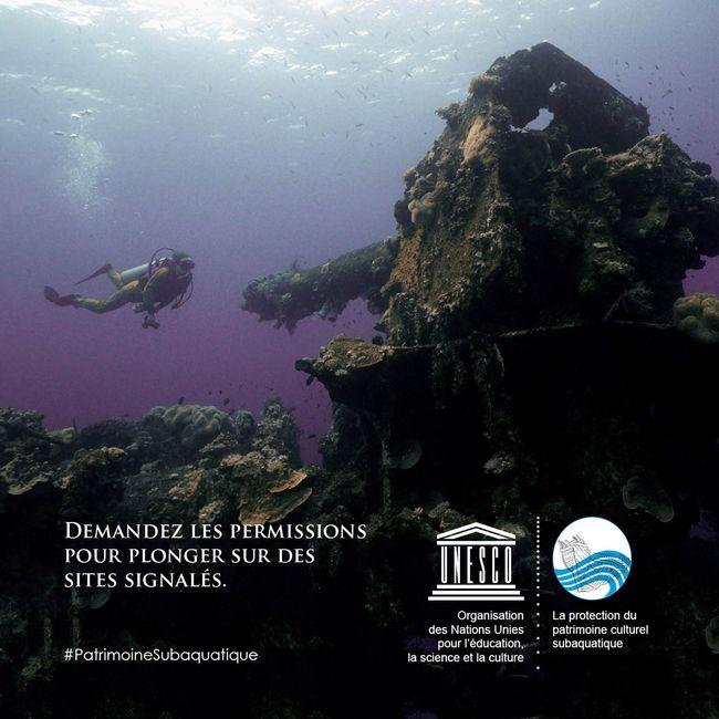Demandez les permissions pour plonger sur des sites signalés © Greg Adams/UNESCO