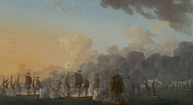 Combat naval de l'Hermione en 1781 © Auguste-Louis de Rossel de Cercy — Musée national de la marine