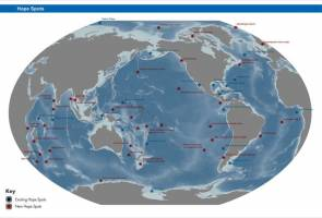 Carte des Hope Spots © Mission Blue/Sylvia Earle