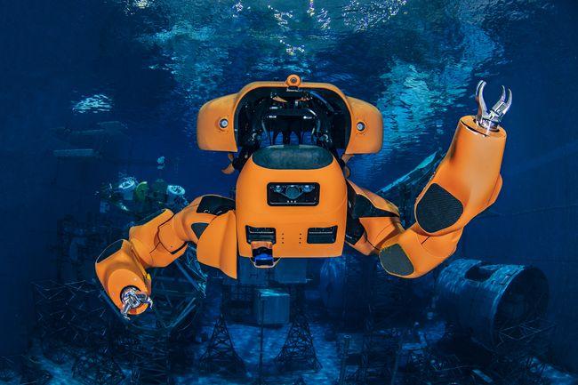 Le robot Aquanaut est équipé de 2 bras articulés sur 8 axes de rotation. © Houston Mechatronics